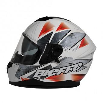 Casco Bieffe Int. B67 Steel Blanco/plateado/rojo T Xl