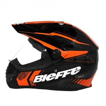 Casco Bieffe Mx B30 Negro/naranja-gris T S