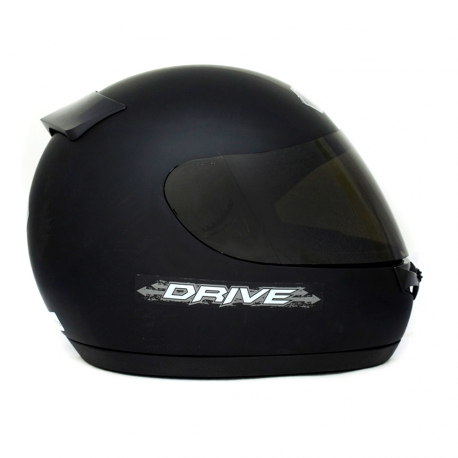 Casco Drive Classic Negro Mate Visor Oscuro T61