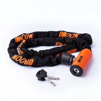 Cadena Forrada Drook Enduro 120  Naranja (x4)