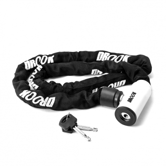 Cadena Forrada Drook Enduro 120  Negro-blanco (x4)