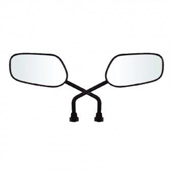 Espejo Diseño Titan Medio Abs C/ Direccional Led Adap. Yamaha (par)