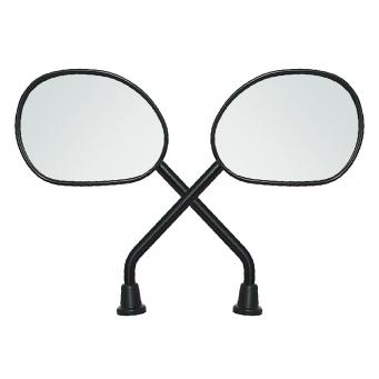 Espejo Smash Simil Forma Biz 125 Negro Rosca M10 Der/der (par)