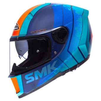 Casco Force Koster Azul Mate/naranja C/ Pinlock (dv) Xl