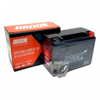 Bateria Drook Gel Ytx6.5l-bs 12v 6.5ah 139 X 66 X 100 (caja X10)