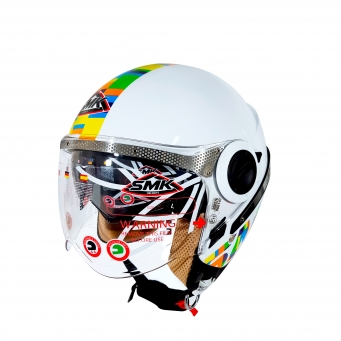 Casco Sirius Art Blanco/color (dv) M