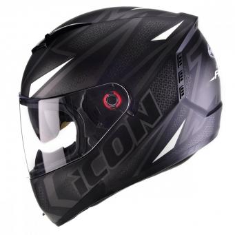 Casco Icon Fast Negro Mate/blanco T60