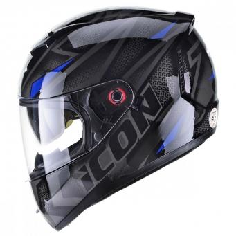 Casco Icon Fast Negro/azul T62