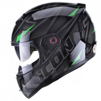 Casco Icon Fast Negro/verde T62
