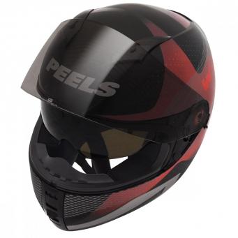 Casco Icon Wonder Negro/rojo T58