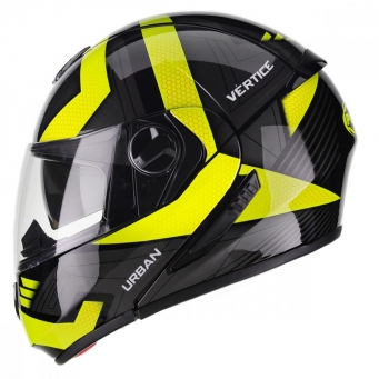 Casco Urban Vertice Negro/amarillo T60