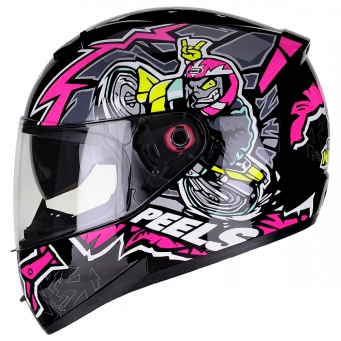 Casco Icon Mil Grau Negro/rosa T56