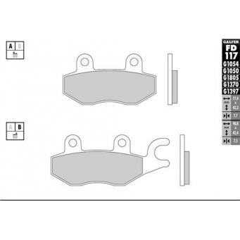 Pastilla Semi Metalica  Ref  Fa165