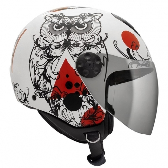 Casco Freeway Sense Blanco/rojo T56