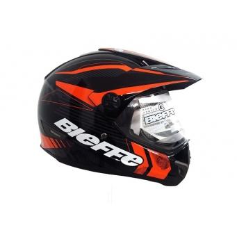 Casco Bieffe Mx B30 Negro/naranja-gris T M