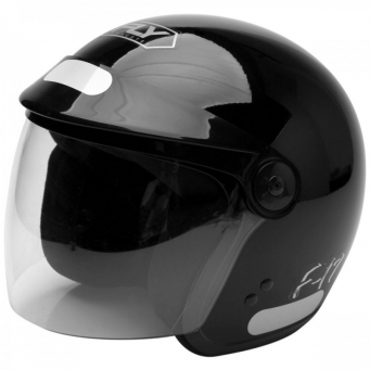 Casco F-17 Negro Brillo T58