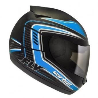 Casco Drive Hg Carbon Negro/azul T60