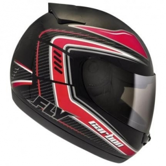 Casco Drive Hg Carbon Negro/rojo T58