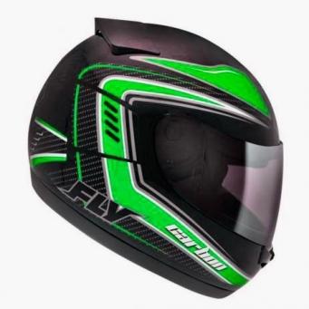 Casco Drive Hg Carbon Negro/verde T60