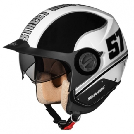 Casco Derby Grid Blanco/negro S
