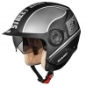 Casco Derby Grid Plateado Mate/negro M