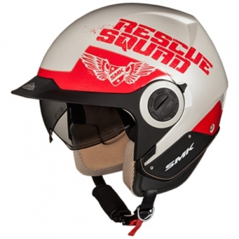 Casco Derby Rescue Blanco/rojo M