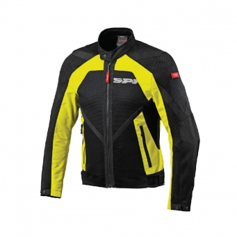 Campera Netstream Con Malla Negra/fluor Xl