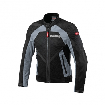 Campera Netstream Con Malla Negra/gris Xl