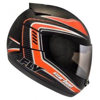 Casco Drive Hg Carbon Negro/naranja T58