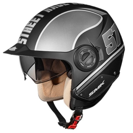 Casco Derby Grid Negro Mate/gris L