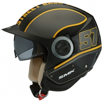 Casco Derby Grid Negro Mate/amarillo S