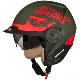 Casco Derby Rescue Verde Mate/rojo L