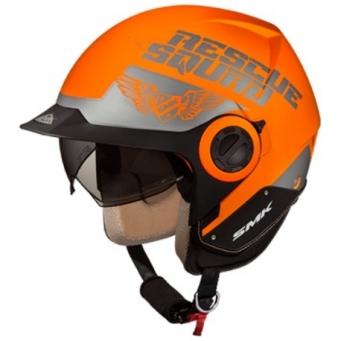 Casco Derby Rescue Naranja Fluor/ Plateado Mate S
