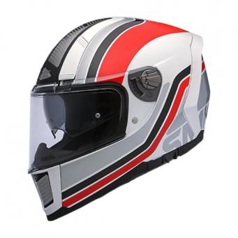 Casco Force Steel Seventy Blanco/rojo (dv) L