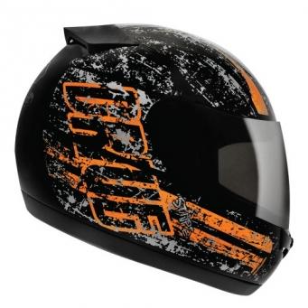 Casco Drive Hg Stripe Negro/naranja T58