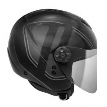 Casco Freeway Brand Negro Mate/gris T56