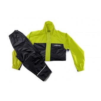 Conj. Lluvia Nylon 1300 Lujo C/ Forro Y Ventil. Amarillo/negro T Ps