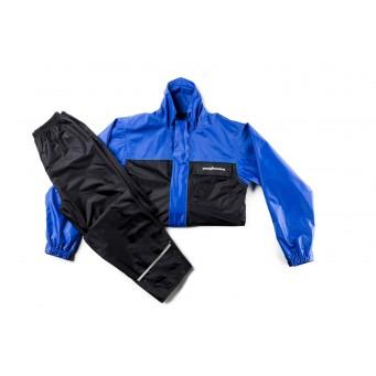 Conj. Lluvia Nylon 1300 Lujo C/ Forro Y Ventil. Azul/negro T M