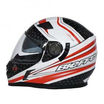 Casco Bieffe Int. 952 Speed Blanco/negro-rojo T M