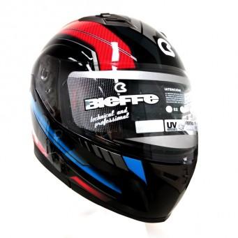 Casco Bieffe Reb. 953 Tourer Negro/rojo-gris T L